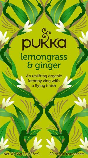 pukka lemongrass og ginger citrongræs og ingefær