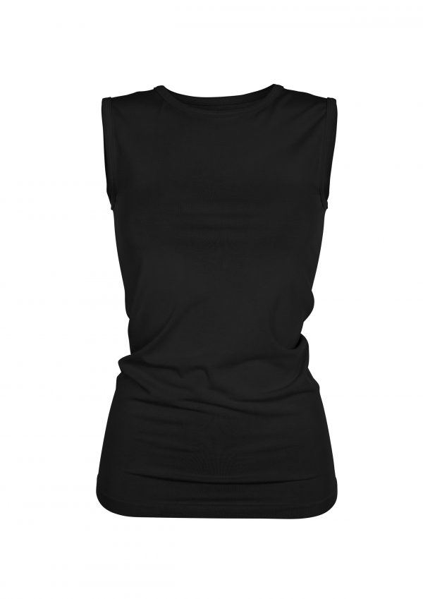 R&R Basic Bamboo Tank bambustop Beautiful Black