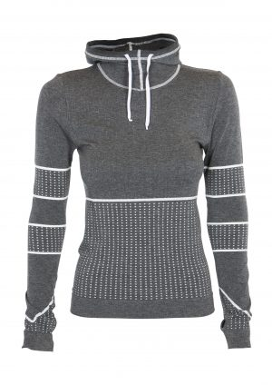 R&R Heather Hoodie Dark Grey Melange