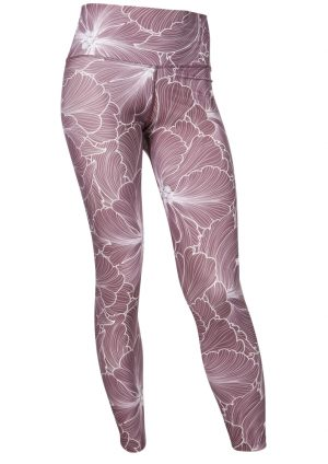 run&relax EssentialFlower yoga Tights AuberginePink