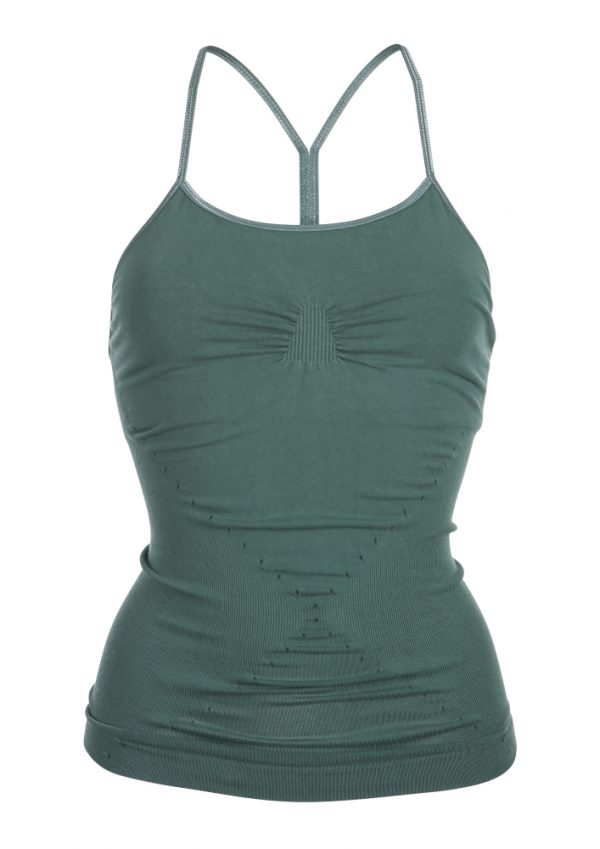 R&R karna yoga cami top muted green