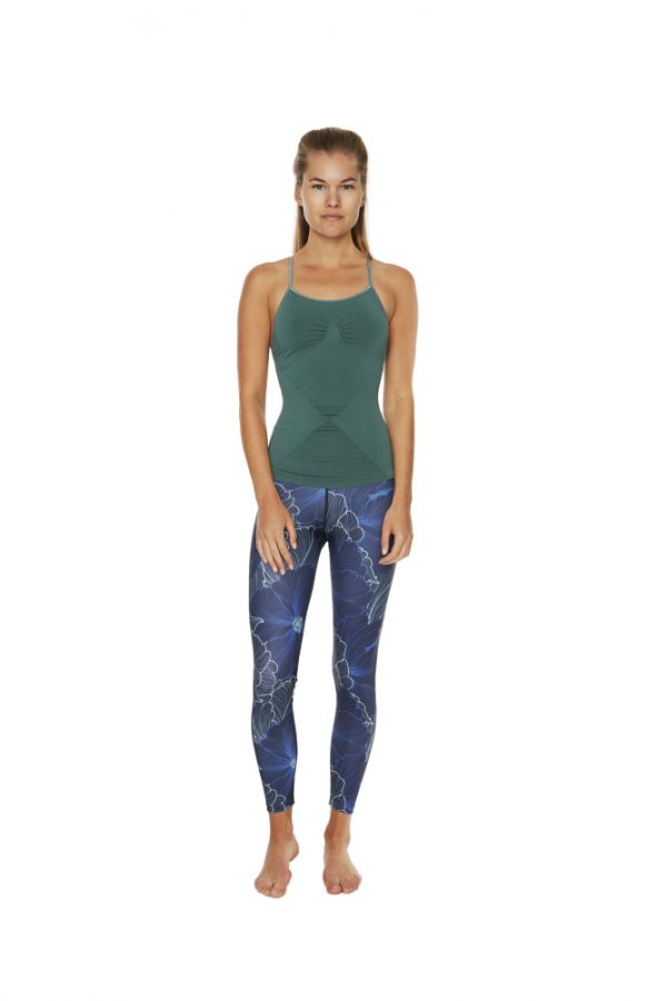 R&R karna yoga cami top muted green