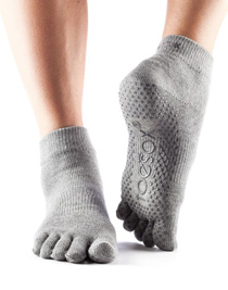 toesox ankle heather grey