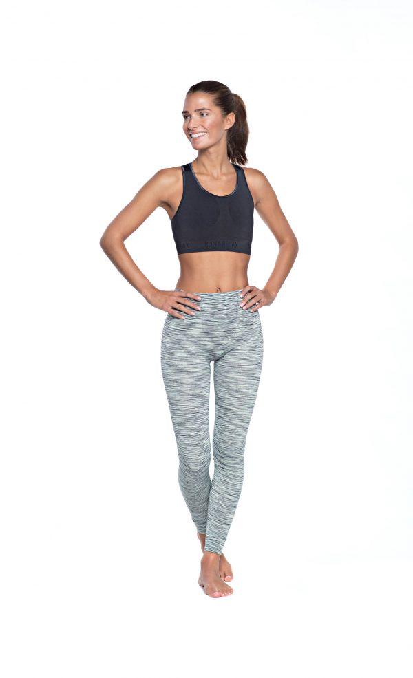 run relax seamless sports bra grey