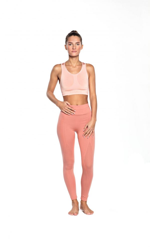 run relax seamless sports bra light rose