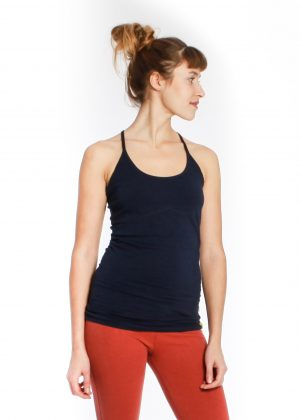 Yogamii strap top navy