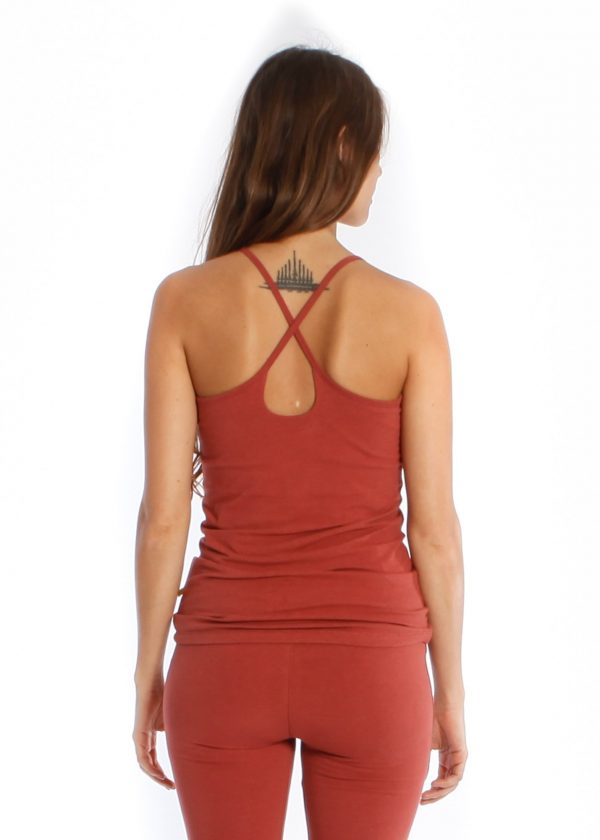 strap top- burnt orange