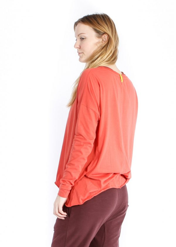 yogamii drapy tee burnt orange