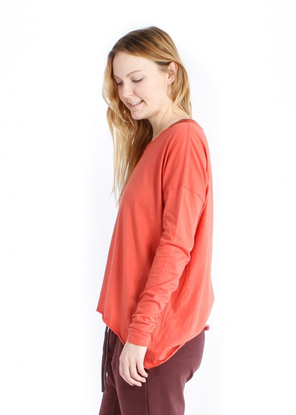 yogamii drapy tee --burnt orange