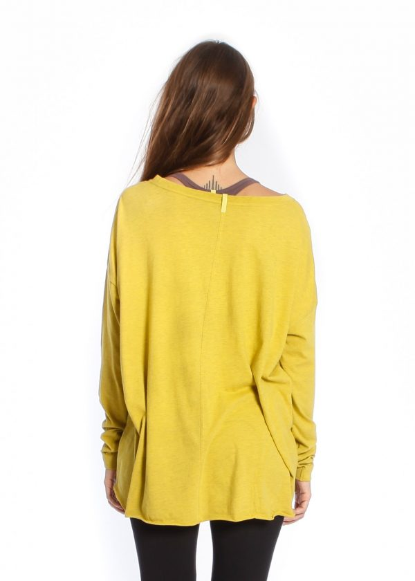 yogamii drapy tee - curry -