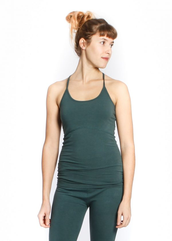 yogamii strap top hope green