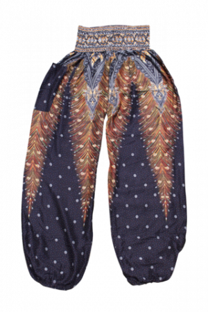 black peacock harems pants