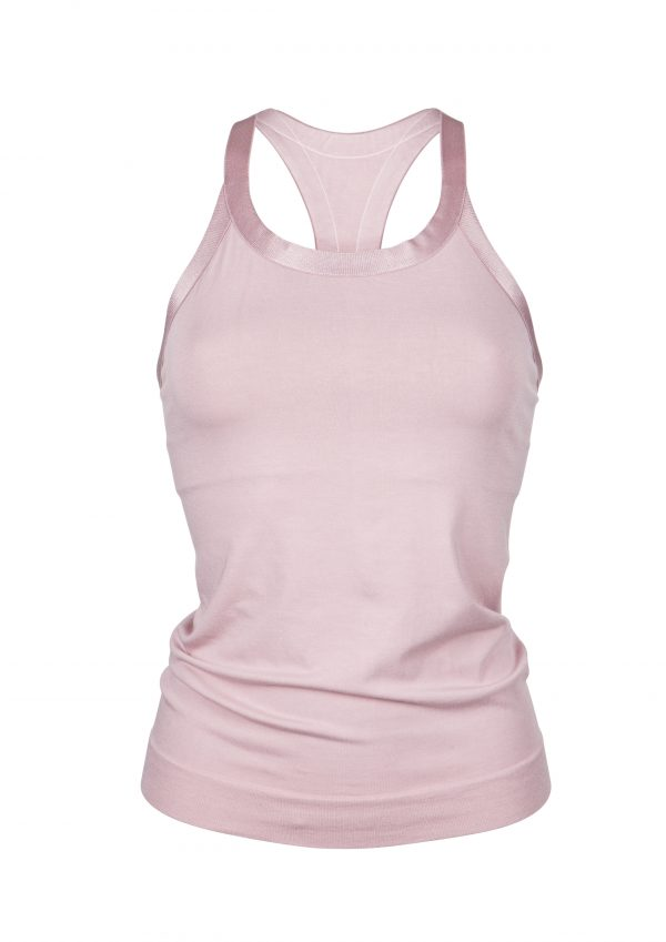R&R Wide Strap Open Back-Soft Rose top