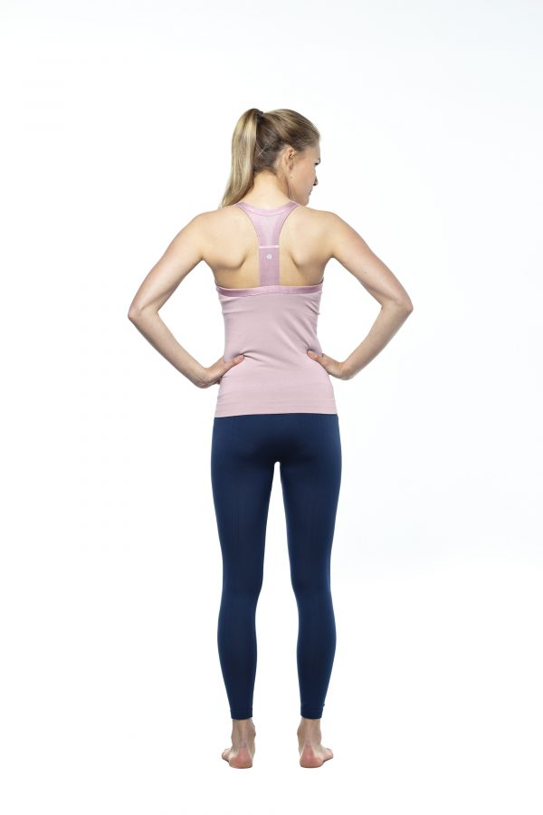 run and relax wide strap top rosa