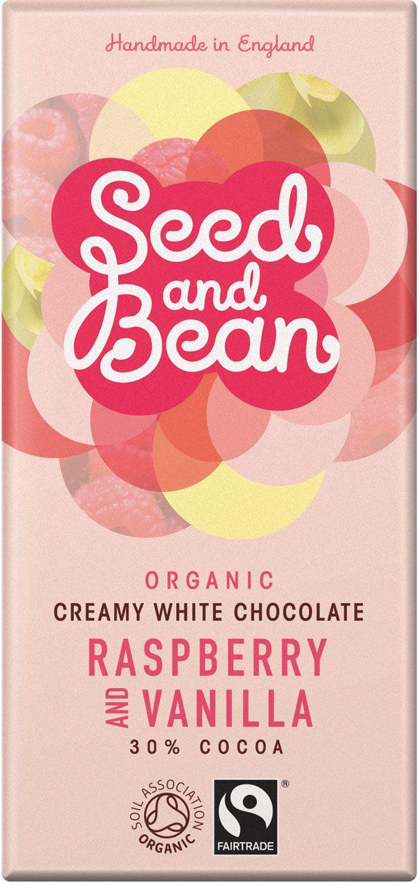 hvid chokolade med hindbær og vanilje