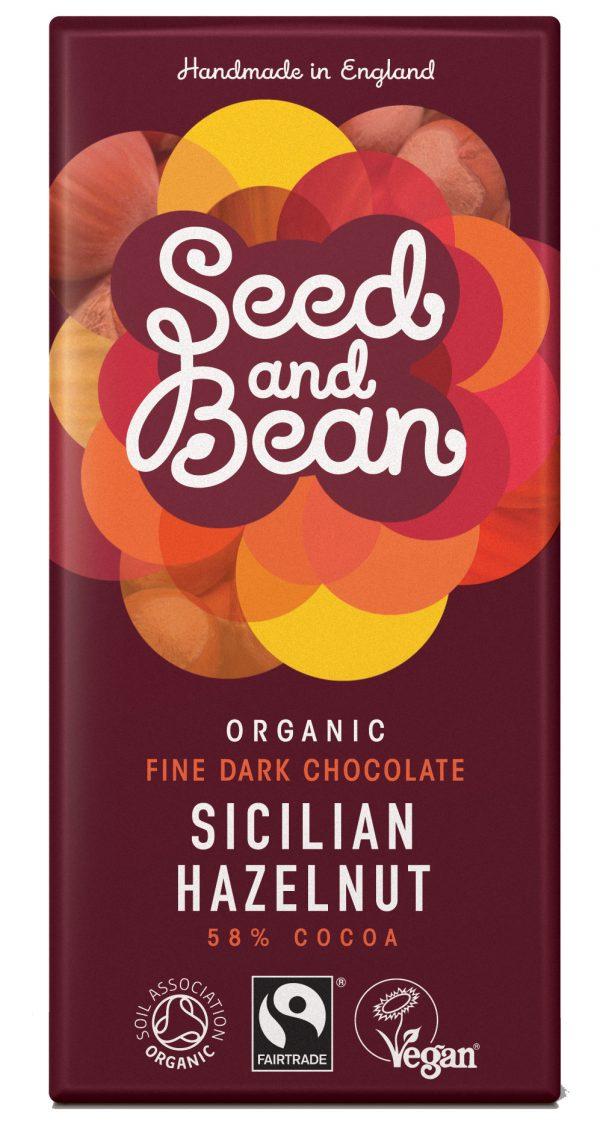 Seed and bean mørk chokolade med hasselnød