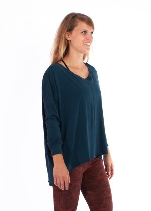 yogamii drapey tee sea blue
