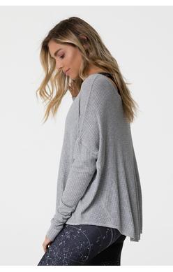raglan pullover heather grey krispilates