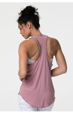 glossy yoga top rosy cheeks