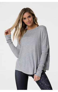 Onzie raglan pullover heather grey