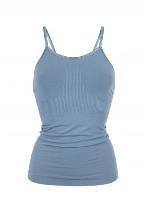 R&R- Mantra Yoga Top Petrol Blue