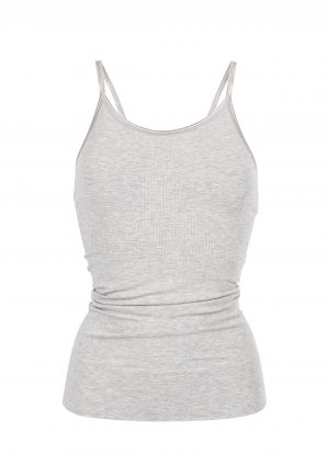 Run and relax Mantra Yoga Top-Light Grey Melange
