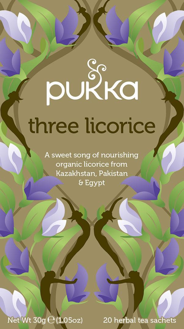 three licorice pukka