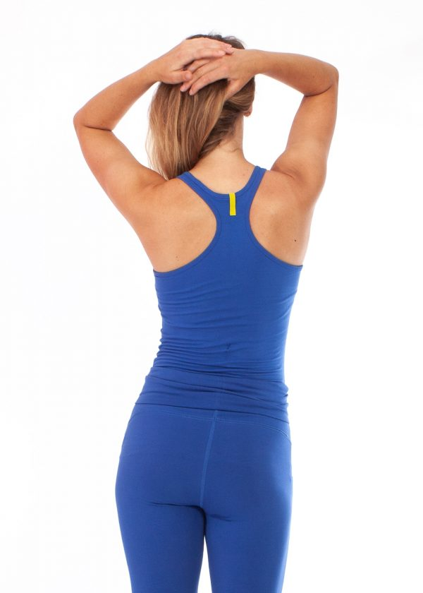 yogatop strong blue back