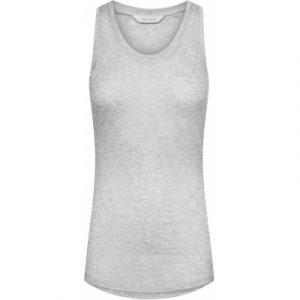 Nellie silk top light grey melange