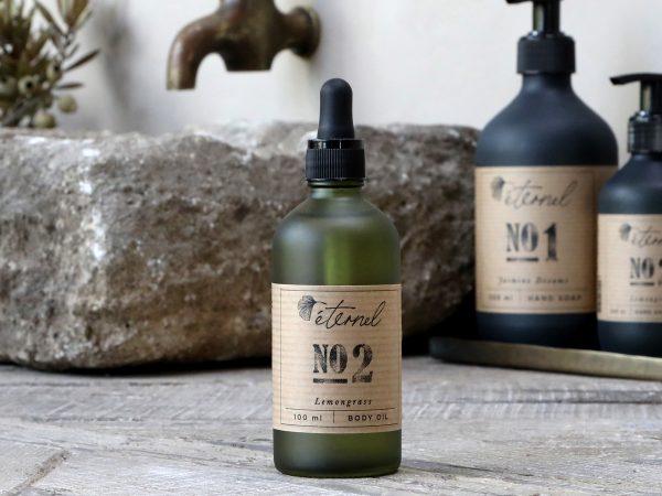éternel body oil lemongrass