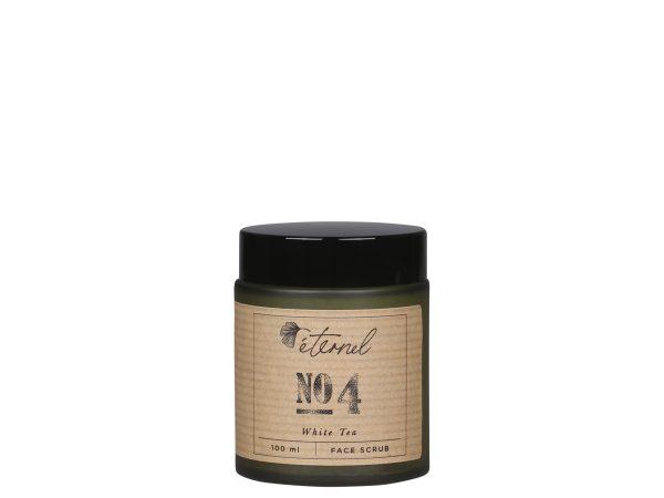 éternel face scrub no. 4 white tea