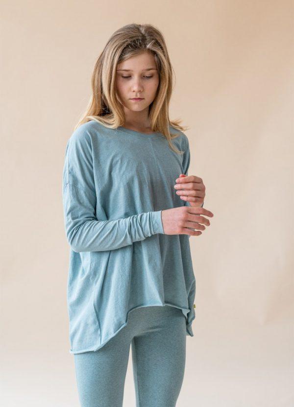 yogamii drapy tee mist blue